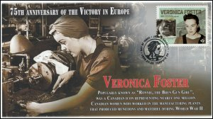 CA20-017, 2020, Victory in Europe, Pictorial Postmark, First Day Cover, Veronica