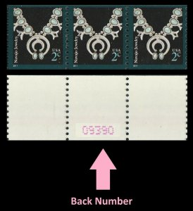 US 3758B American Design Navajo Jewelry 2c coil strip 3 back number MNH 2011