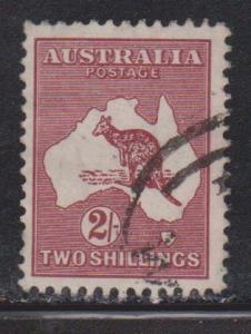 AUSTRALIA Scott # 206 Used - Kangaroo - Dark Shade