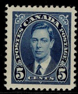 CANADA GVI SG361, 5c blue, NH MINT.