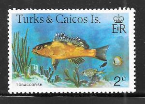 Turks and Caicos 361: 2c Tobacco Fish (Serranus tabacarius), MH, VF