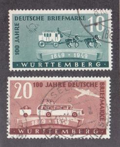 Germany (Wurttemberg) Scott #8N38-8N39 Used