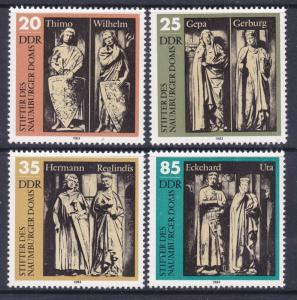 Germany DDR 2355-58 MNH 1983 Naumberg Cathedral Statues 15th Century Set VF