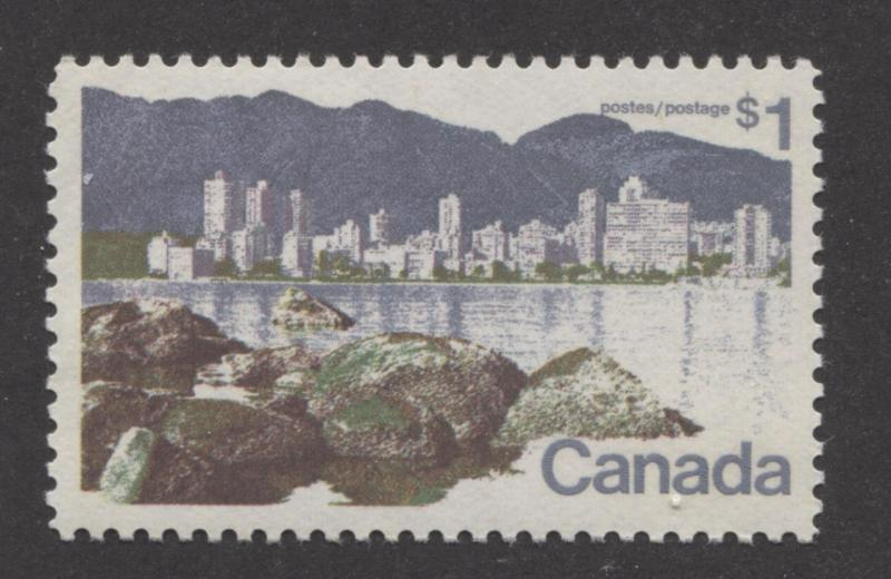 Canada #600 $1 Vancouver Caricature Issue Paper Type 11 VF-80 NH