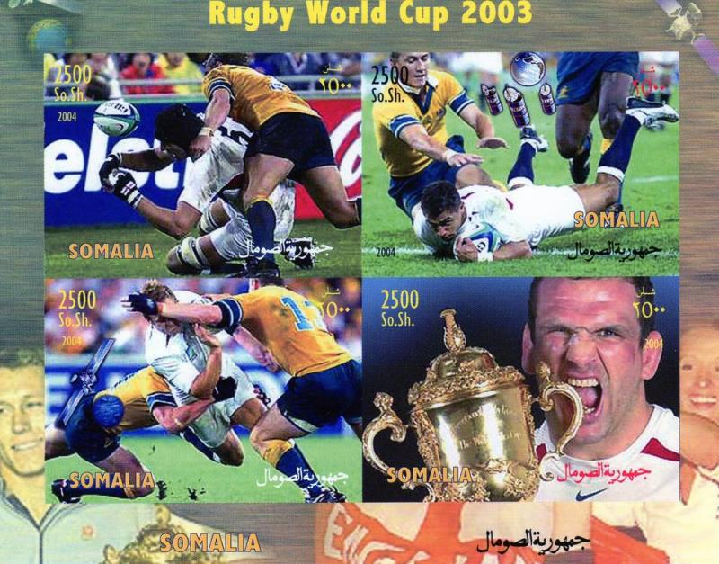 Somalia 2003 Rugby World Cup-SpaceShlt(4)Imperf.MNH#SOI1/4CA