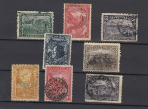 Tasmania 1899/1900 Collection Of 8 Incl CDS Interest Fine Used JK6322