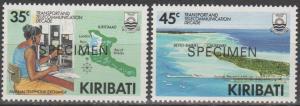 Kiribati #509-10 MNH VF Specimen Ovpts  CV $3.00 (ST2411)