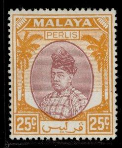 MALAYSIA - Perlis GVI SG20, 25c purple & orange, M MINT.