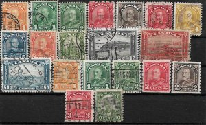 COLLECTION LOT OF 20 CANADA KG5 ERA STAMPS 1930+ CV+$60