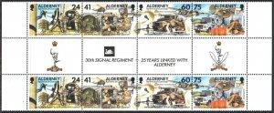 Alderney. 2014. 90-93. Military signalmen. MNH.