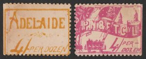 SOUTH AUSTRALIA Tramways : Early 1900s ticket with 'Adelaide 4/- per dozen'