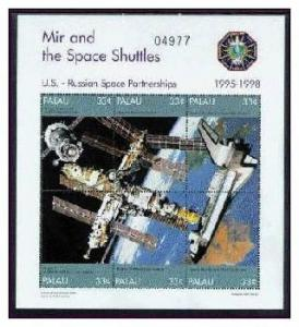 PALAU SHEET SPACE SHUTTLES MIR RUSSIAN SPACECRAFT