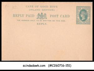 CAPE OF GOOD HOPE - 1/2d QV REPLY POST CARD (INLAND SERVICE) - MINT