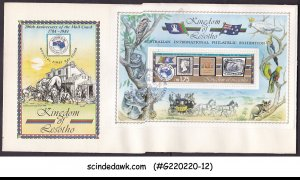 LESOTHO - 1984 200th ANNIV. OF THE MAIL COUCH / AUSIPEX MS FDC