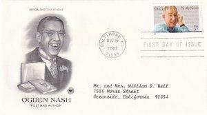 2002, Honoring Ogden Nash, PCS, FDC (E11571)