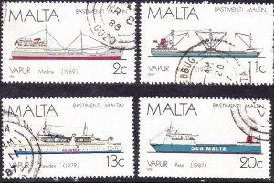 MALTA 1987 Multicoloured Maltese Ships Set 5th Series SG809/812 FU