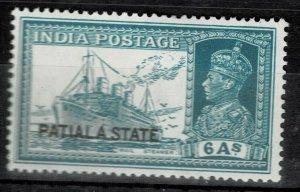india- patiala state - 1937-38 sg no 89 lmm hcv 50gbp+