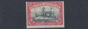 GERMAN EAST AFRICA  1901  S G 25   3R   BLUE BLACK RED   NO GUM