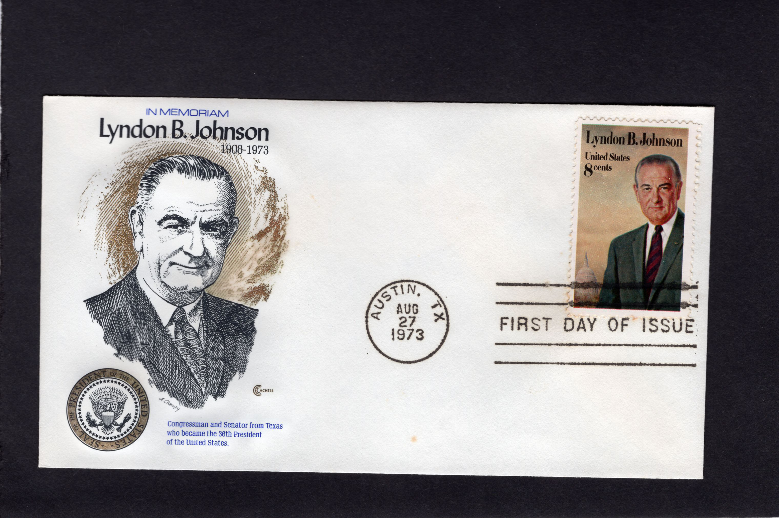 1503 lyndon johnson  fdc  ccc  unaddressed  cv  1 00