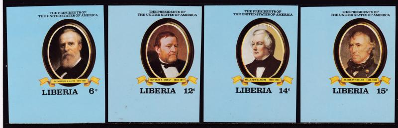 Liberia 1981 (10) U.S. Presidents from Series Imperf Abraham Lincoln VF/NH(**)