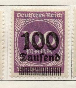 Germany 1923 Early Issue Fine Mint Hinged 100T. Surcharged 092054