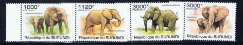Burundi 847-50 NH 2011 Elephants Set
