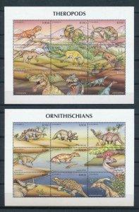 [107195] Zambia 1999 Prehistoric animals dinosaurs 2 Sheets MNH