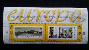 50th anniversary of EUROPA stamps - Isle of Man 1x Bl perf ** MNH