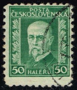 Czechoslovakia #128 President Masaryk; Used (0.25)