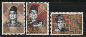 MALAYSIA 1969 Solidarity Week 3V USED SG#56-58