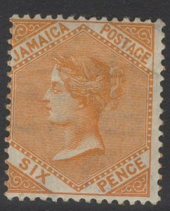 JAMAICA SG51 1906 6d DULL ORANGE MTD MINT