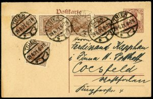 GERMANY INFLATION POSTCARD #116 TRIER 29.6,21 CANCELLATION