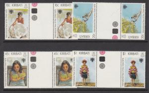 Kiribati 345-8 gutter pairs mnh