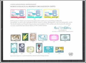 UN New York #SC11 WIPO Souvenir Card