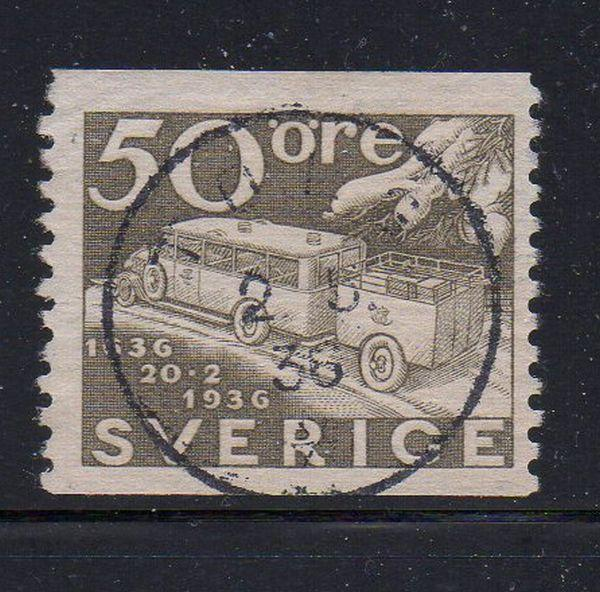 Sweden Sc 260 1936 50 ore Mail Truck stamp used