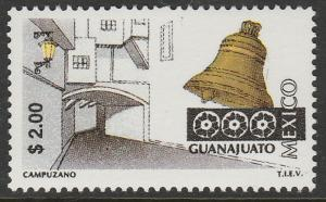 MEXICO 1963, $2.00 Tourism Guanajuato, street, bell. Mint, Never Hinged F-VF.