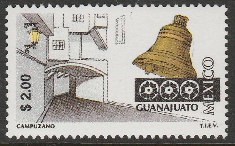 MEXICO 1963 $2.00 Tourism Guanajuato, street, bell. Mint, Never Hinged F-VF.