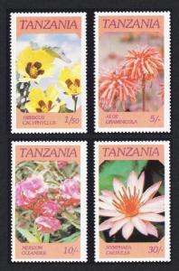 Tanzania Flowers 4v SG#474-477 SC#315-318