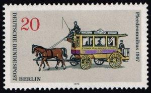 Germany #9N335 Horse-Drawn Streetcar; Unused (2Stars)