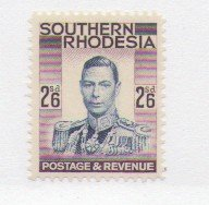 Southern Rhodesia Sc 53 1937 2/6d George VI stamp mint