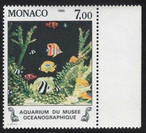 Monaco 1985 Fish set Sc# 1481-85 NH