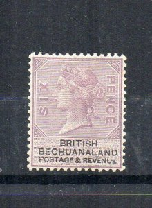 Bechuanaland Protectorate 1888 6d lilac and black MH