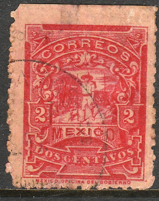 MEXICO 258 2cents MULITA WMK INTERLACED RM USED (158)