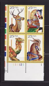 United States 2393a Plate Block MNH Set American Folk Art (B