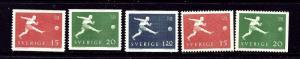 Sweden 524-28 MNH 1958 Soccer