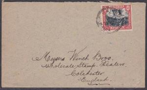 JAMAICA 1902 1d Llandovery Falls on cover Kingston to UK.....................705