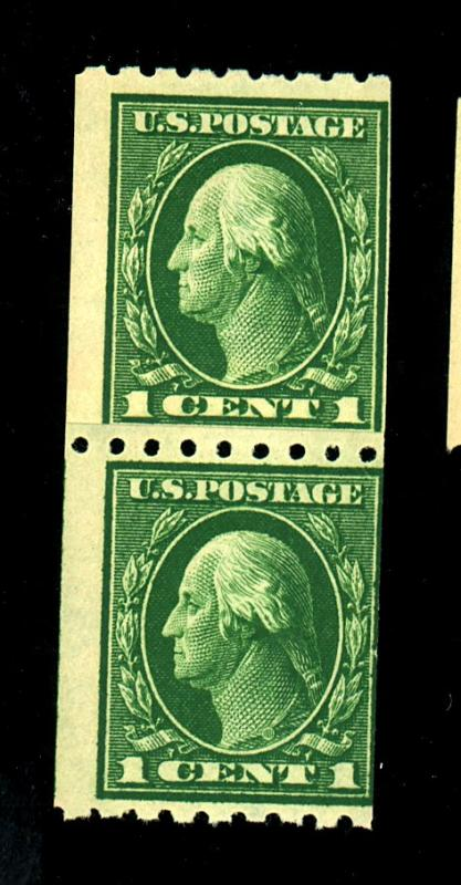 410 MINT Paste up pair F-VF OG NH Cat $33