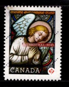 Canada - #2492 Christmas 2011 Stained Glass Angel   - Used