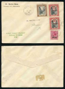 Bahamas 2nd Jan 1930 First Flight with War Charity Stamps etc