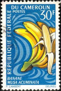 CAMEROUN - 1967 - Mi.514 30fr Banana (Musa acuminata) - Very Fine Used